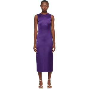 Georgia Alice SSENSE Exclusive Purple Satin Dress