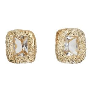 Bleue Burnham Gold Mini Rose Earrings
