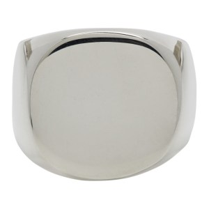 Bleue Burnham Silver The Solid Signet Ring