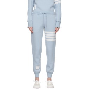 Thom Browne Blue Cashmere 4-Bar Lounge Pants
