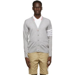 Thom Browne Grey Merino 4-Bar Cardigan