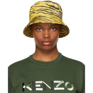Kenzo Yellow and Black Tiger Bucket Hat