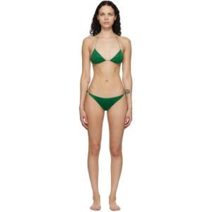 Oseree Green Lumiere Halter Bikini