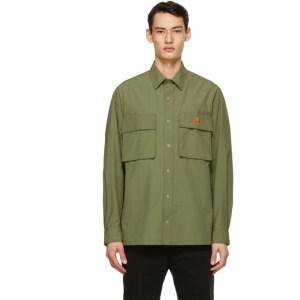 Kenzo Green Poplin Casual Shirt