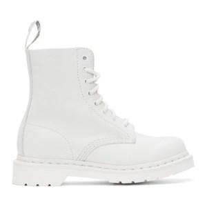 Dr. Martens White 1460 Mono Pascal Boots