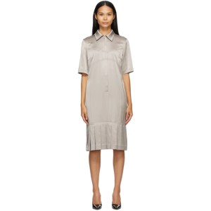 Commission SSENSE Exclusive Taupe Bralette Shirt Dress