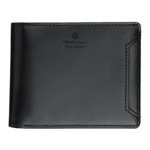 Master-Piece Co Black Notch Bifold Wallet