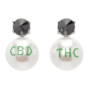 Jiwinaia Black CBD/THC Earrings