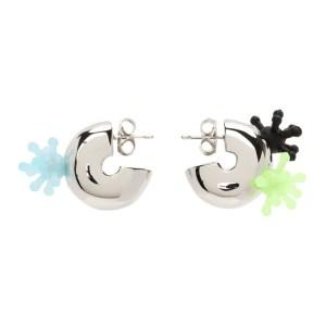 Jiwinaia Silver XL Huggie Atom Earrings
