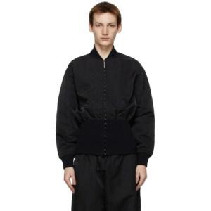 Dion Lee Black Rib Loop Bomber Jacket