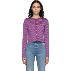 Calle Del Mar Purple Checkered Cardigan