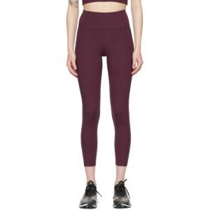 Girlfriend Collective Purple High-Rise Compressive Leggings
