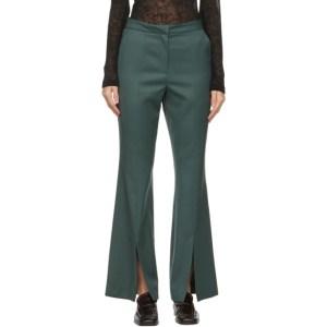 LVIR Green Slit Bell Bottom Trousers