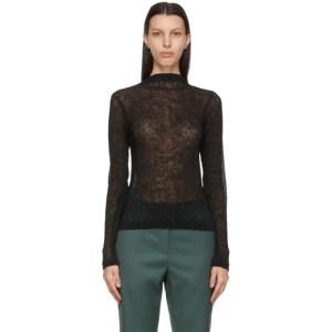 LVIR Black Mock Wrinkle Sweater
