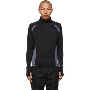 Hyein Seo Black and Grey Half-Zip Sweater