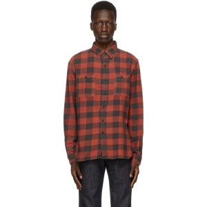 RRL Red and Black Flannel Work Shirt