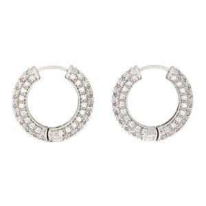 Numbering Silver Small 994 Hoop Earrings
