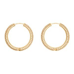Numbering Gold Large 994 Hoop Earrings
