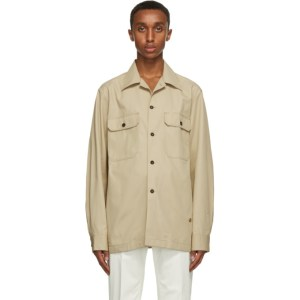 Dunhill Beige Cotton Twill Over Shirt