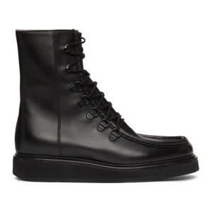 Legres Black Leather College Boots