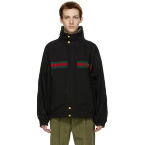 Gucci Reversible Black Ripstop Jacket