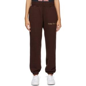 Awake NY Brown Classic Outline Logo Lounge Pants