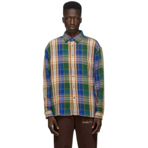 Awake NY Green Heavyweight Flannel Barbed Wire Shirt