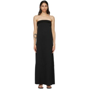 Esse Studios Black Viscose Column Dress