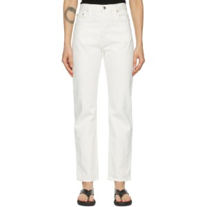 Esse Studios Off-White Denim Rigid Jeans
