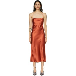 Le Kasha Red Silk Hotan Dress