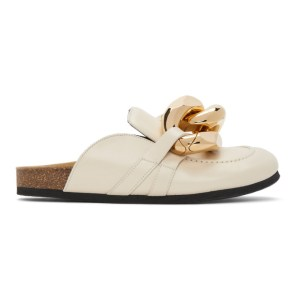 JW Anderson Beige Chain Slippers