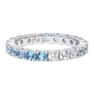 Hatton Labs SSENSE Exclusive Silver and Blue Topaz Eternity Ring