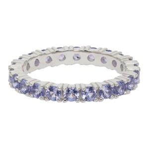 Hatton Labs SSENSE Exclusive Silver and Purple Eternity Ring