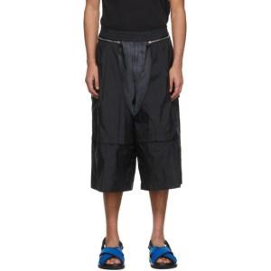 JERIH Black Detachable Shorts