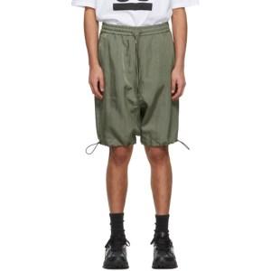JERIH Khaki Drawstring Shorts