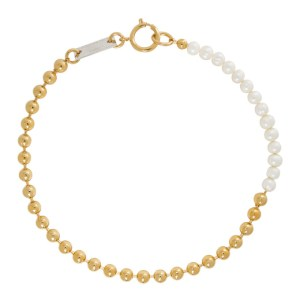 IN GOLD WE TRUST PARIS Gold Pearl Choker Necklace