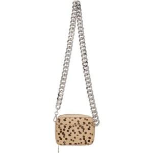 KARA Brown Calf Hair XL Chain Camera Bag