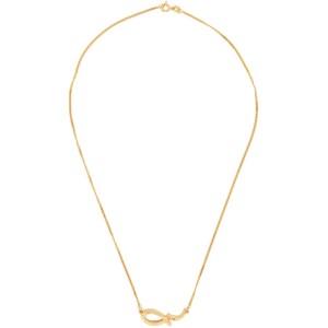 Dear Letterman Gold Sabr Pendant Necklace