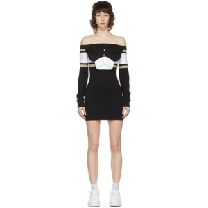 Lourdes Black and White Pullover Dress