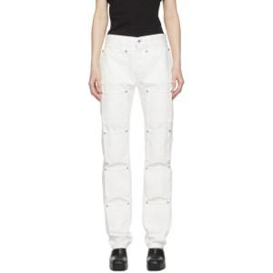 Lourdes White Multi-Pocket Jeans