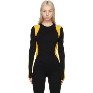 Lourdes Black and Yellow Biathlon T-Shirt