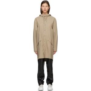 RAINS Beige Taffeta Rain Coat