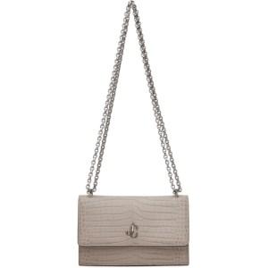 Jimmy Choo Taupe Croc Bohemia Chain Bag