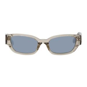 Magda Butrym Grey Linda Farrow Edition Crystal Sunglasses