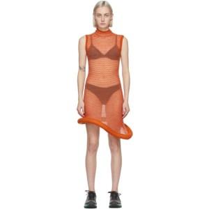 Louise Lyngh Bjerregaard SSENSE Exclusive Orange Tennis In October Mid-Length Dress