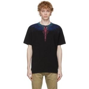 Marcelo Burlon County of Milan Black and Multicolor Wings T-Shirt