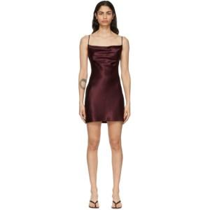 Fleur du Mal SSENSE Exclusive Burgundy Cowl Neck Slip Dress