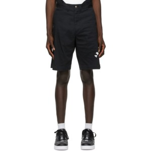 BAPE Black College Chino Shorts