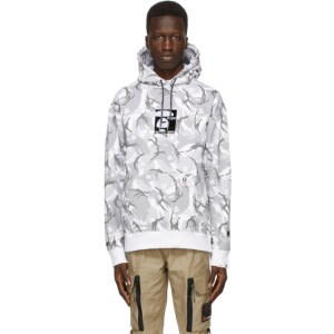 AAPE by A Bathing Ape Grey and White Camouflage Hoodie