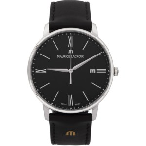 Maurice Lacroix Silver and Black Eliros Date Watch
